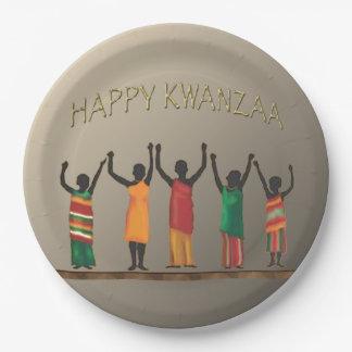 内祝のKwanzaaのパーティーの紙皿 ペーパープレート