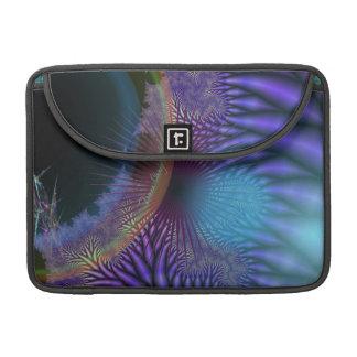 内部に見ること-紫色及び紺碧のミステリー MacBook PROスリーブ