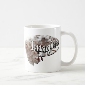 内部の子供のかぎ針編みの桜のロゴ コーヒーマグカップ