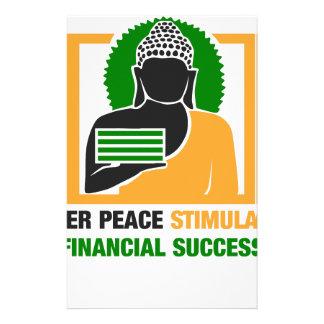 内部の平和は財政の成功を刺激します 便箋