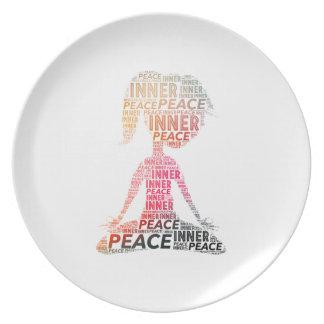 内部の平和滞在の陽性 プレート