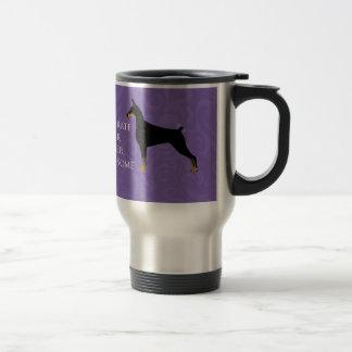 内部の素晴らしい- (犬)ドーベルマン・ピンシェル トラベルマグ