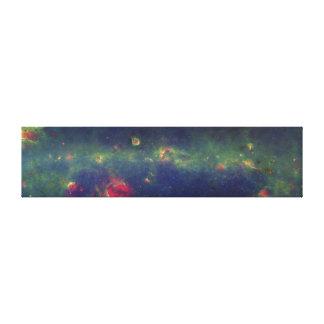 内部の銀河の銀河系の赤外線ポートレート キャンバスプリント