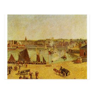 内部港、カミーユ・ピサロ著Dieppe ポストカード