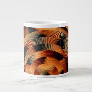 円およびフリンジの織物のデザインNectrine ジャンボコーヒーマグカップ