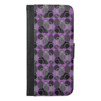 円および楕円形のピンクのiphoneの財布 iPhone 6/6s plus ウォレットケース