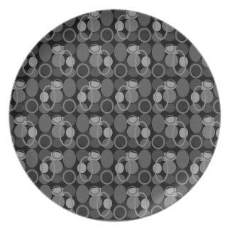 円および楕円形のプレート プレート