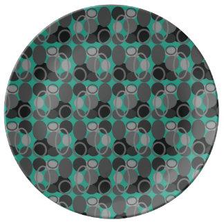 円および楕円形のプレート 磁器プレート
