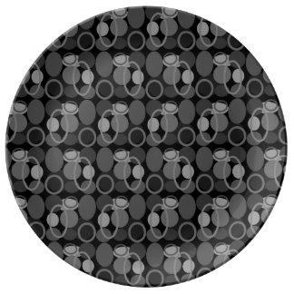 円および楕円形パターンプレート 磁器プレート