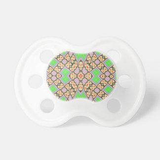 円および正方形パターン おしゃぶり