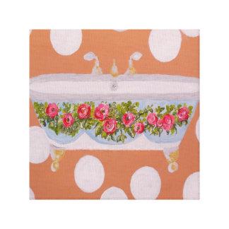 円および石鹸水の浴室の芸術 キャンバスプリント