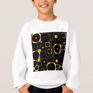 円が付いている金背景 スウェットシャツ