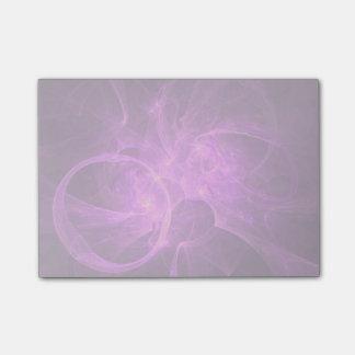 円とのピンクおよび紫色の抽象的なフラクタル ポストイット