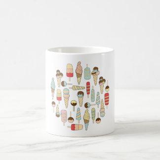 円のアイスクリームの変化のマグ コーヒーマグカップ
