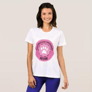 円のオーストラリアの羊飼いのお母さんのバッジ Tシャツ