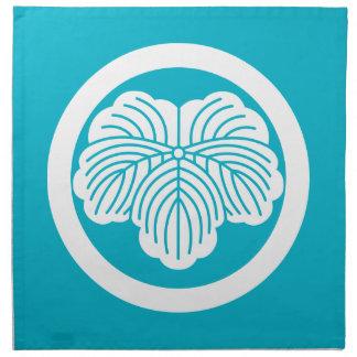 円のキヅタの葉 ナプキンクロス
