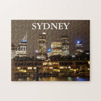 円のクウェイからのシドニーのスカイライン ジグソーパズル