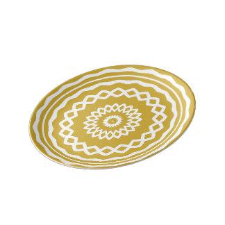円のゲーム: 大喜びの金ゴールド 磁器プレート