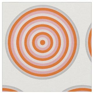 円のデザインのとかされた綿織物 ファブリック