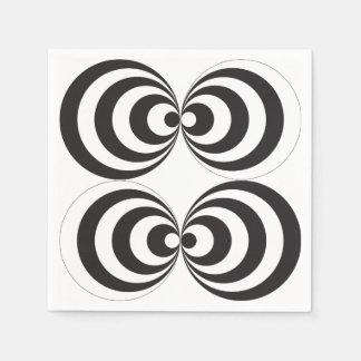 円のプリントのデザイン スタンダードカクテルナプキン