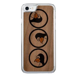 円のペンギンの回転 CARVED iPhone 8/7 ケース