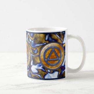 円の三角形の回復節酒のコーヒーカップのマグ コーヒーマグカップ