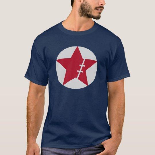 円の中の傷星 Tシャツ