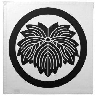 円の先の尖葉のキヅタ ナプキンクロス