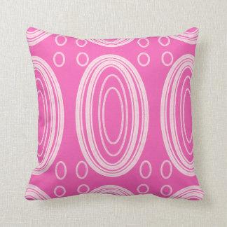 円の効果のピンクのクッション クッション