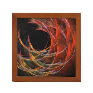 円の抽象美術の破損 ペンスタンド