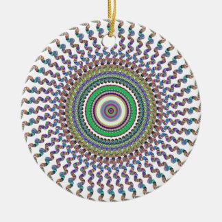 円の抽象芸術 セラミックオーナメント