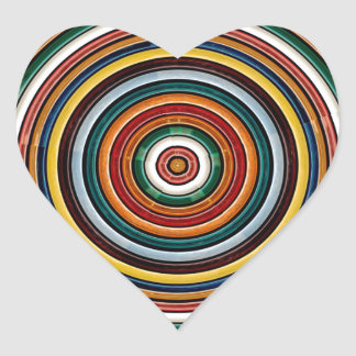 円の波のエンボスのカラフルなストリップのパーティーのギフト ハートシール