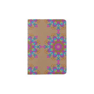 円の繰り返しのデザインのパスポートのホールダー パスポートカバー