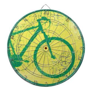 円の自転車の緑 ダーツボード