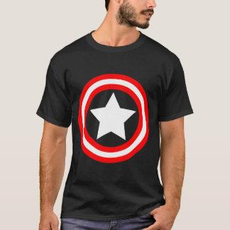 円の芸術の白い星 Tシャツ