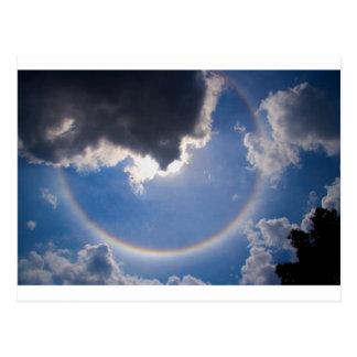 円の虹 ポストカード