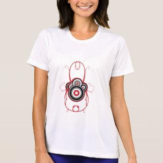 円の赤いグラフィックt-shirt3 tシャツ