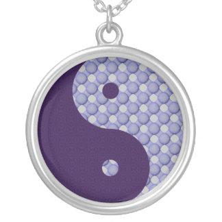 円の陰陽内の円 シルバープレートネックレス