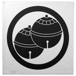 円の2つの鐘 ナプキンクロス