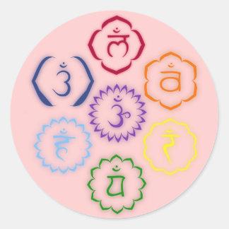 円の7チャクラ ラウンドシール