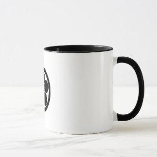 円のUmebachiスタイルのプラム花 マグカップ