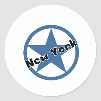 円ニューヨーク 丸形シールステッカー