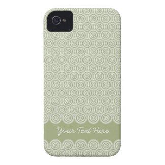 円パターンブラックベリーのはっきりしたな箱は、カスタマイズ Case-Mate iPhone 4 ケース
