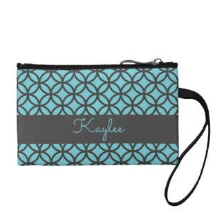 円パターン幾何学的なパターン名前の財布 コインパース