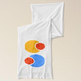 円パターン スカーフ