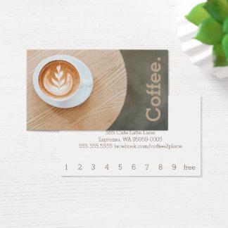 円卓会議のシンプルなロイヤリティのコーヒーのデザインのコーヒー 名刺