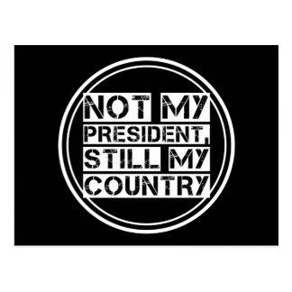 円形ない私の大統領白黒のステンシル文字 ポストカード