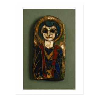 円形にされたプラク、キリストか聖者を、遅く描写します ポストカード