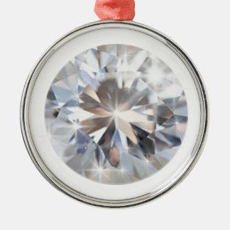 円形にされた水晶ダイヤモンド メタルオーナメント