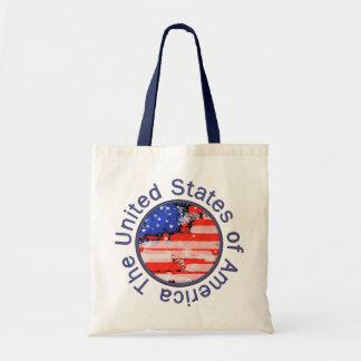 円形にされた米国の旗 トートバッグ